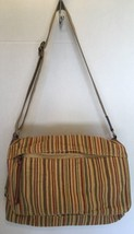 Fossil 75082 multi color Linen and Leather Crossbody Messenger Shoulder ... - $28.90