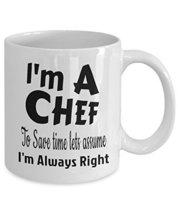 I'm A Chef Funny White Ceramic Novelty Coffee Mug - £10.65 GBP