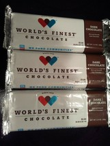 WORLD'S FINEST CHOCOLATE DARK CHOCOLATE BAR (3) x $2.00 Each Bars       ... - $5.99