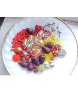 Yellow Red Orange Bead Mix Czech Lampwork Orphans Destash DIY Jewelry Ma... - $9.99