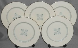 Set (5) Lenox CHARMAINE PATTERN Dinner Plates MADE IN USA - $69.29