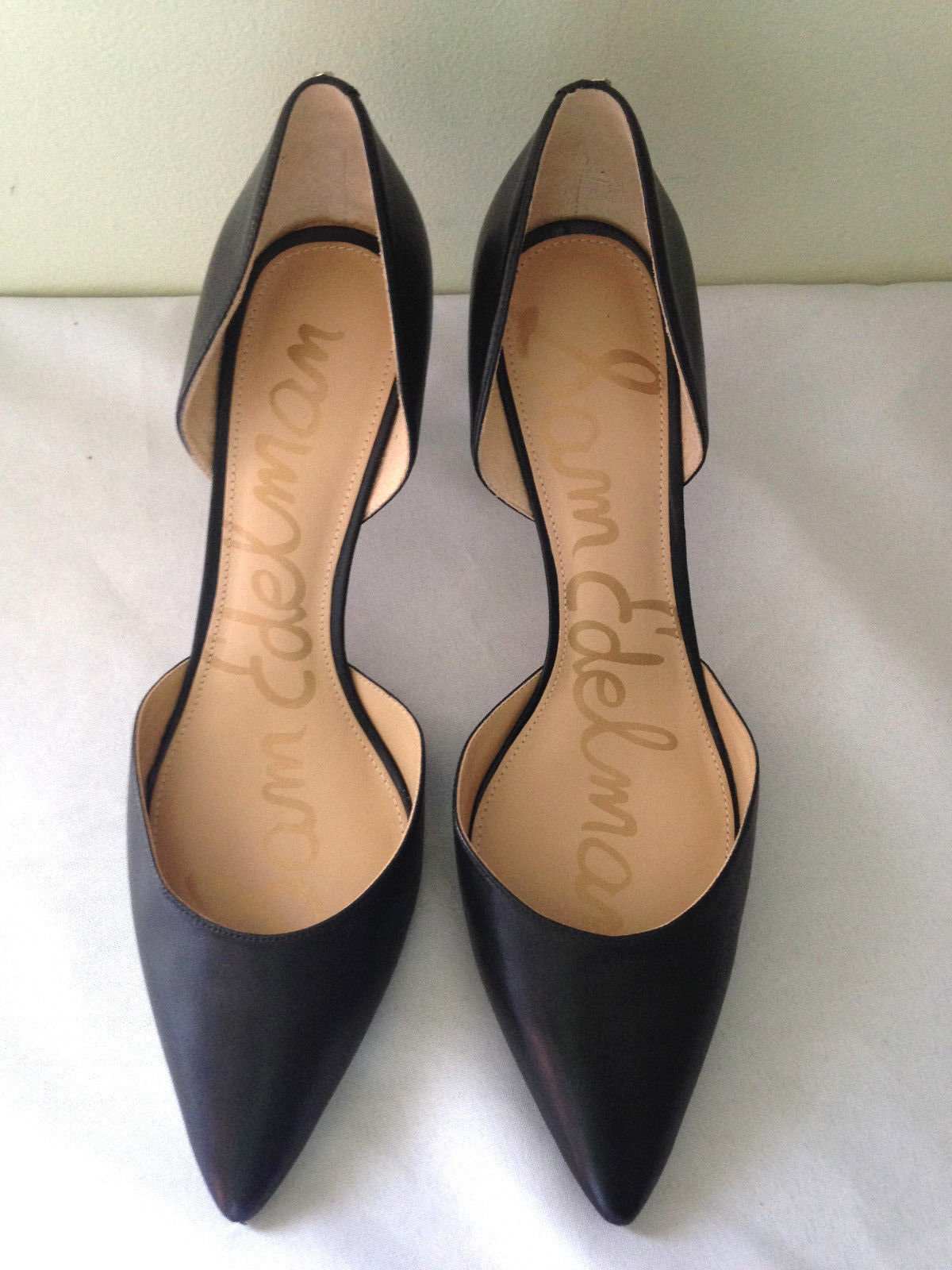 e3ae2609f NEW! Sam Edelman Sexy Classic Black Leather Stiletto TELSA Heels Pumps 13 M   140