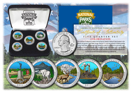 2011 USA Colorized National Parks quarters 5 Coins Set With Gift Box - $14.95
