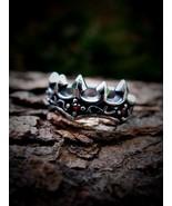 Rothschild Illuminati Royal Heraldic Griffin Gryphon Crown Ring of Power... - $249.99