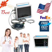 FDA&CE Portable Vital Signs ICU Patient Monitor 6-parameter, Optional Ca... - $494.01