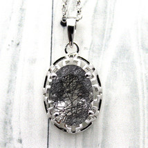 Oval Rutilated Quartz Silver Filigree Work Pendant 925 Silver With Free ... - $51.70