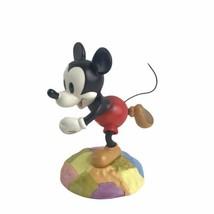 Walt Disney Classic Mickey Mouse Millennium On Top Of The World Porcelain Figure - $46.71