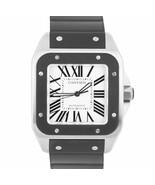 MINT Men's Cartier Santos 100 XL 38mm Stainless Steel Rubber Watch 2656 ... - $3,993.93