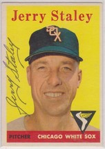 Gerry Staley (d. 2008) Signed Autographed 1958 Topps Baseball Card - Chi... - $14.99