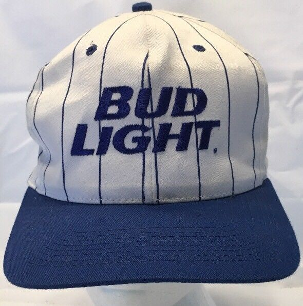 68132759 Blue & White Striped Bud Light Hat SnapBack and 50 similar items