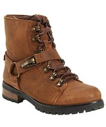 NEW UGG BROWN LEATHER SHEARLING BOOTS SIZE 8.5 M $249 - $142.49