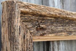 Natural Floating Frame Antique Oak--Vintage Rustic Decor Reclaimed Wood Frame (A - $31.00