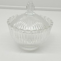 MIKASA JAPAN Royal Suite Sugar Bowl With Lid Clearcandy bowl (dt) - $15.84
