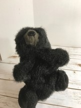 "Folkmanis Black Grizzly Bear Plush Hand Puppet Furry Folk Puppets 9"" - $9.85"