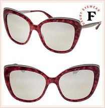 DOLCE & GABBANA GROS GRAIN 4332 Gunmetal Red Pearl Mirrored Sunglasses D... - $266.31
