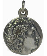 Alexander The Great Macedonian King Silver Pendant - $39.90