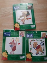 Set of 3 Disney Winnie The Pooh Piglet And Tigger Counted Cross Stitch Kits  - $39.55