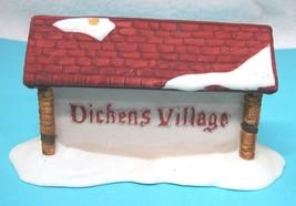 Older Dickens Village Dept 56 Original Store Display Sign Cottage Shape  T74 - $29.21