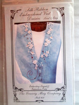 Granny May Company Silk Ribbon Embroidered Daisy Vest Instructions - $9.89
