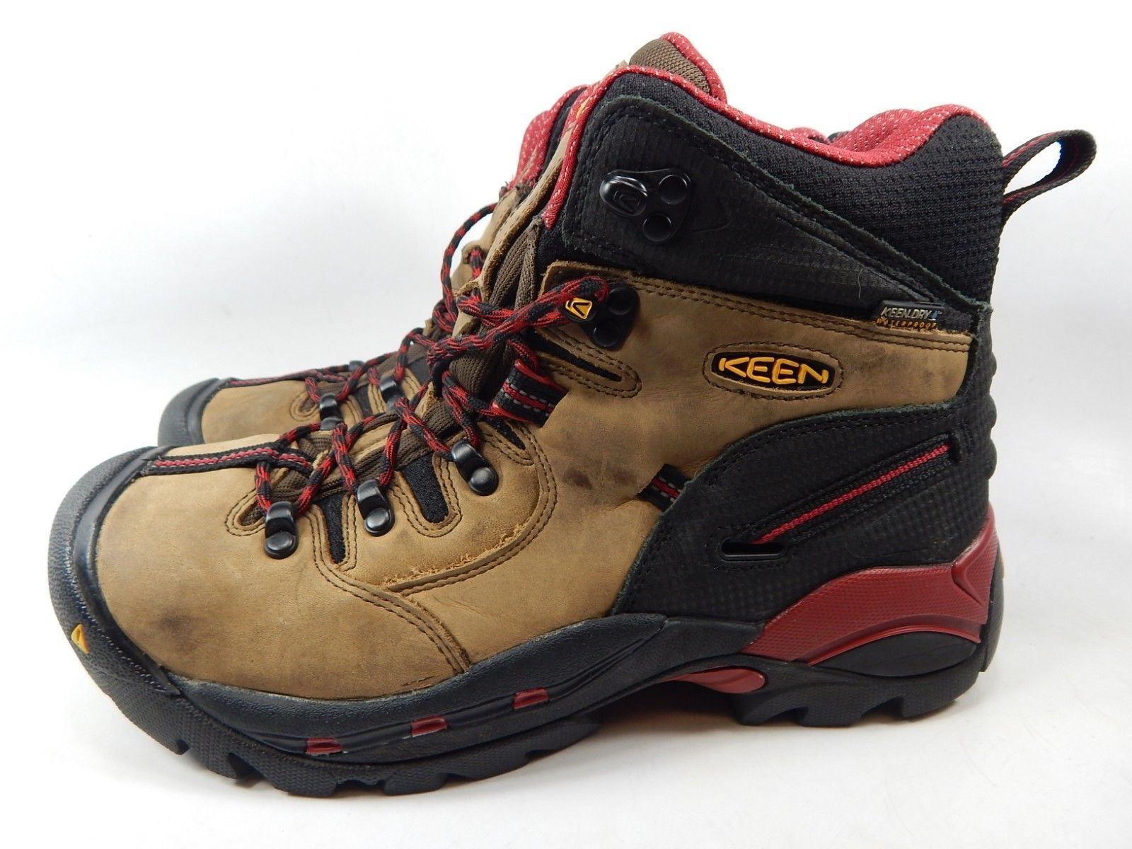 "Keen Pittsburgh 6"" Size: 9.5 M (D) EU 42.5 Men's WP Steel Toe Work Boots 1007024"