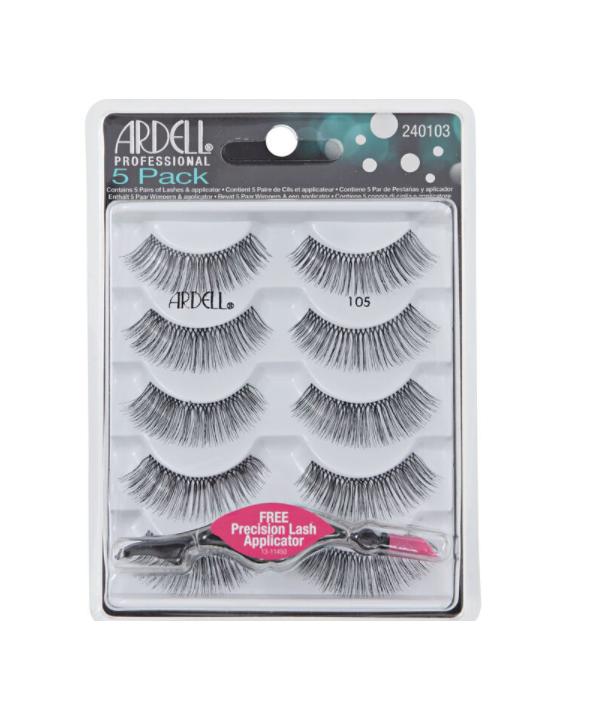 Ardell 105 5 pairs + FREE Precision Lash Applicator - $13.81