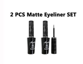 """Italia Deluxe Black Matte Waterproof Liquid Eyeliner """"2 PCS Set"""" - $5.92"""