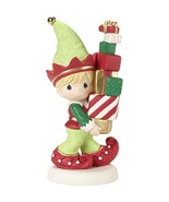 """Precious Moments"""" Bringing You Loads of Christmas Cheer Elf Figurine, Multicolor - $32.75"""
