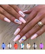 Nail Art New Decor Crystal Nail Diamonds Rhombus Gems Rhinestones For Nails - $3.72