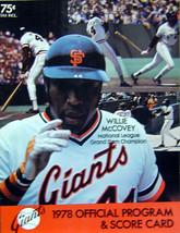 1978 San Francisco Giants MLB Baseball Game Program Magazine - $7.99