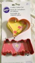 Wilton Cookie Cutters Set Heart Mom Shape Pink - $9.99