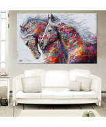 Running Horse Art Print Canvas Unframed  Wall Picture Poster Home Decor - $9.99