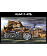 Ghostrider David Mann Cult biker poster print  19X13 - $28.00