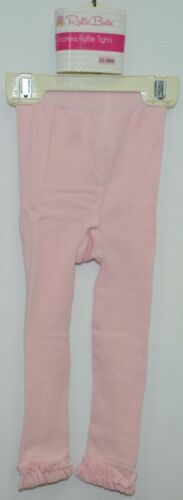 RuffleButts RLKPI120000 Pink Ruffle Footless Tights Size 12 to 24 Months