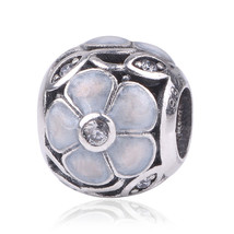 Couqcy Authentic 925 Sterling Silver Bead with flower Crystal Beads Fit ... - $15.30