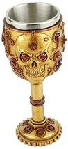 Steampunk Skull, 3D Novelty Chalice/Goblet, Stainless Steel Liner SU59 - $19.95