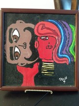 A Mans Talk and a Woman Silent by Passant Saied Acrylic Painting Art Work Painti image 1