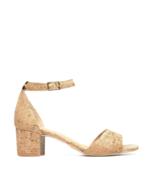 Vegan Heel Sandal Open Toe Organic Ankle-Strap Buckle Casual Elegant Bre... - $107.75