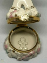 LENOX TREASURES CHRISTMAS  A SWEET SURPRISE GINGERBREAD TRINKET BOX WITH... - $18.80