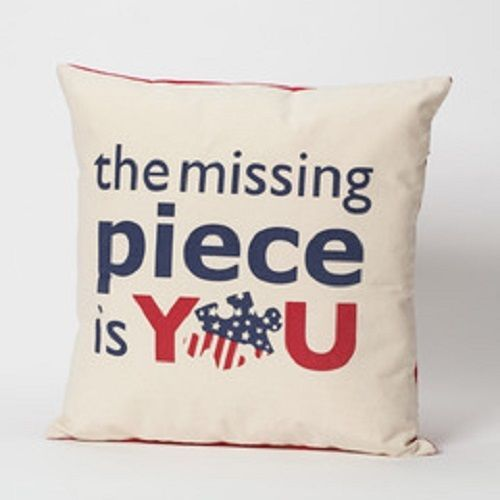 Patriotic Pillow Red White and Blue The Missing Piece is You