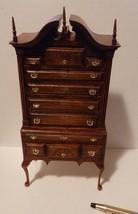 House of Miniatures Furniture Kit #40023 Chippendale Broken-Bonnet Highboy NIB - $68.99