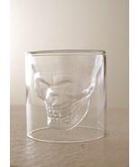 Pottery Barn skull shot glass  Halloween skeleton - $19.99