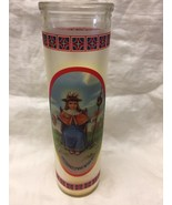 "Santo Nino de Atocha  8"" Glass Candle New  - $9.90"