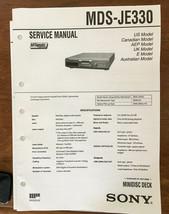 Sony MDS-JE330 MD Mini Disc  Service Manual *Original* - $16.60