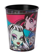 Monster High Stadium Keepsake Cup 16 oz Re-usable Zipper Design 1 Per Pa... - $2.92