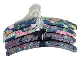Fabric Hangers Floral And Paisley Material Shabby Victorian Set of 4  - $29.39
