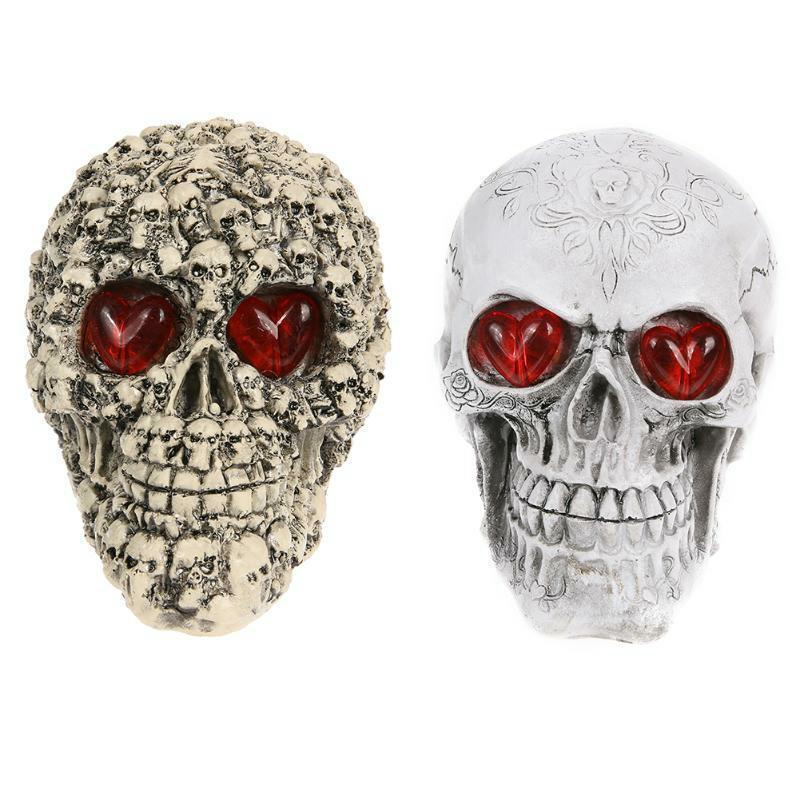 Halloween Decoration Resin Eyes Luminous Skull Halloween Home Decor Pub Decors