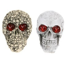 Halloween Decoration Resin Eyes Luminous Skull Halloween Home Decor Pub ... - $463,96 MXN
