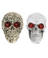 Halloween Decoration Resin Eyes Luminous Skull Halloween Home Decor Pub ... - $24.63