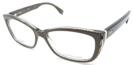 Fendi Rx Eyeglasses Frames FF 0003 7PE 52-16-140 Mud Black FF Logo Made ... - $121.77