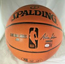 DONOVAN MITCHELL / UTAH JAZZ / AUTOGRAPHED FULL SIZE NBA LOGO BASKETBALL / COA image 4